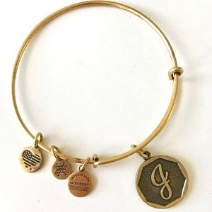 "Alex and Ani ""J"" bangle bracelet"